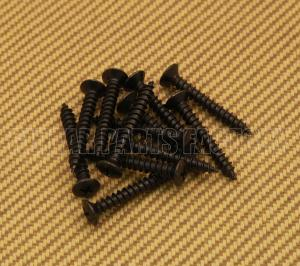006-2440-049 (12) Genuine Fender Deluxe Short Black Neck Screws 0062440049