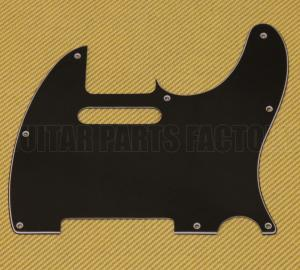 PG-0562-033 3-Ply Black Pickguard for Tele