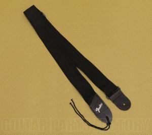 099-0606-049S Genuine Fender Black/Silver Logo Pick Pouch Strap for Guitar/Bass 0990606049S