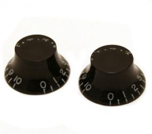 PK-MBI-B (2) Black Metric Bell Knobs for Import Guitars