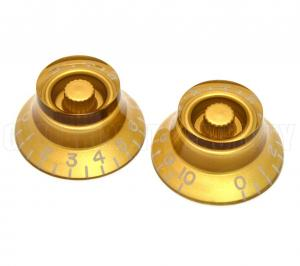 PK-MBI-G (2) Gold Metric Bell Knobs for Import Guitars
