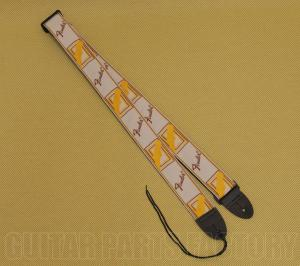 099-0683-000 Genuine Fender Monogram Natural/Brown/Yellow Strap for Guitar/Bass 0990683000