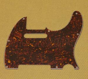 PG-0562-043 Brown Tortoise Pickguard for Standard Fender Telecaster/Tele
