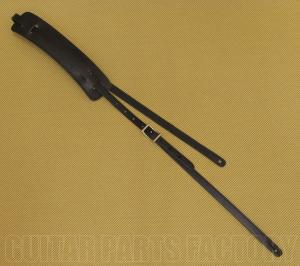 922-0664-006 Black Gretsch Padded Leather Skinny Vintage Style Guitar/Bass Strap 9220664006