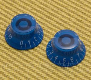 PK-MBI-BLUE-11 (2) Blue Metric Bell Knobs for Import Guitars 0-11