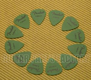 098-7351-850 Fender Green Delrin .88mm Guitar Picks 0987351850