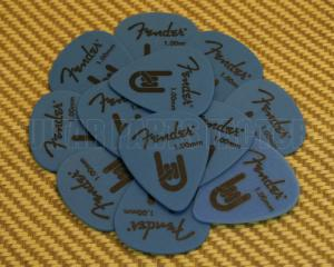 098-7351-900 Fender Blue Delrin 1.0mm Guitar Picks