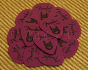 098-7351-950 Fender Purple Delrin 1.14mm Guitar Picks