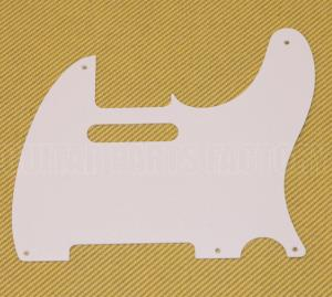 PG-0560-025 1-Ply White Pickguard Vintage Style 5 Hole for Tele