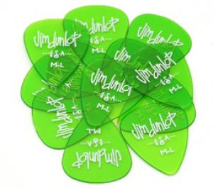 DUNLOP GELS MED/LIGHT GREEN GUITAR PICKS