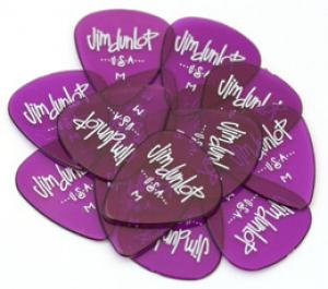 DUNLOP GELS MEDIUM/PURPLE GUITAR PICKS