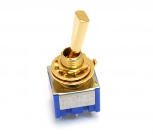 EP-0082-002 Gold Mini Switch On-Off-On for Guitar/Bass