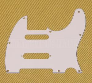 PG-9563-035 White S-Cut Nashville Pickguard for Telecaster