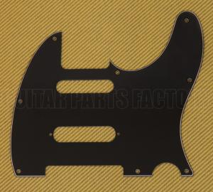 PG-9563-033 3-ply Black Nashville Pickguard For Fender Tele