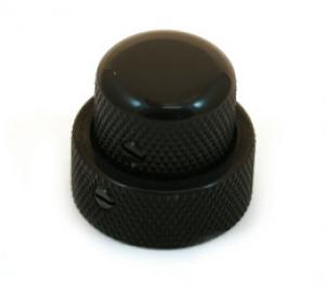 MK-0137-003 Concentric Bass Guitar Stacked Knob Fits CTS Concentric Pots Black