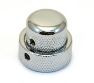 MK-0137-010 1 Chrome/Chrome Concentric Stacked Knob for 62 Jazz Bass CTS Stack Pot