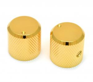 MK-3330-002 Gold Dot Barrel Knobs Guitar or Bass Indicator Dot