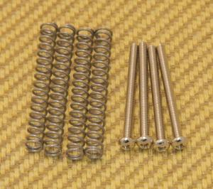 GS-0012-001 4 Nickel Mounting Screws and Springs for USA and Gibson Humbucker Pickups