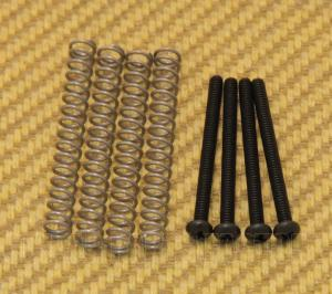GS-0012-003 Black SAE/USA Guitar/Bass Humbucker Pickup Mounting Screws & Springs