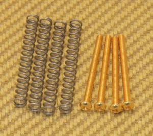 GS-0012-002 Gold SAE USA Humbucker Pickup Mounting Screws & Springs