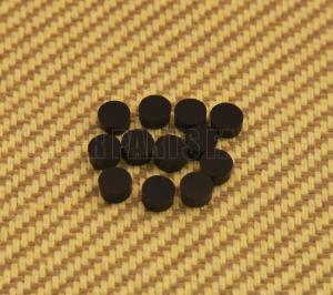 LT-0474-023 (12) Black Metric 6mm Fingerboard Inlay Dot Fret Marker Non-US Made Guitar