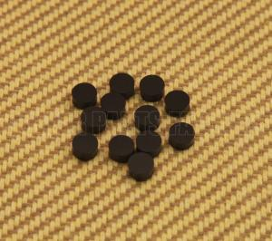 LT-0483-023 (12) Black 1/4 Dot Fret Markers Fingerboard Inlays Most US-Made Guitar