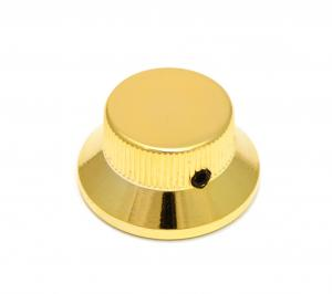 MK-0141-002 (1) Gold Finish Schaller Metal Bell Knob for Fender Stratocaster