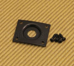 006-2424-000 Squier By Fender Guitar Black Curved Recessed Rectangle Jack Plate 0062424000