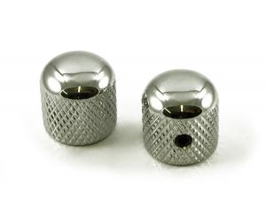 BBKCUS WD (2) Chrome Brass Dome Knobs
