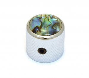 K-MDAB-C (1) Chrome/Abalone Metal Dome Knobs