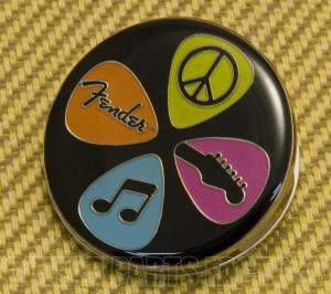 910-0247-000 Fender Strat Guitar Love Peace and Music Magnet Paper Clip