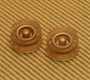 PK-0132-032 (2) Gold 0-11 Speed Knobs for Guitar/Bass