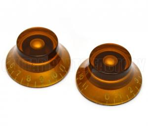 PK-0142-022 (2) Amber 0-11 Bell Knobs