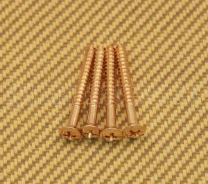 GOLD SHORT NECK SCREWS FOR IMPORT GUITARS