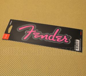 "910-0254-000 Fenderâ""¢ Guitar, Bass &  Amp  Logo Sticker Pink Glitter"