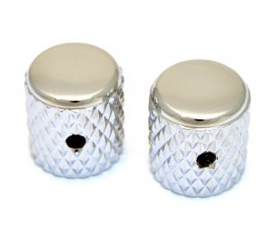 MK-0112-001 (2) Nickel Heavy Knurled Vintage Style Barrel Knobs