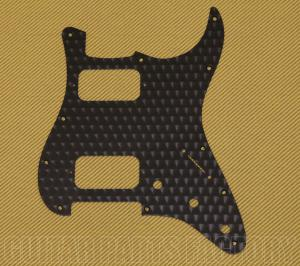 099-1383-000 Fender Engine Turned Black Aluminum HH Stratocaster Pickguard