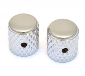 MK-0112-010 (2) Chrome Heavy Knurled Vintage Style Barrel Knobs