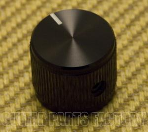 K-HIFI-B (1) Black Aulminum Hi-Fi Solid Shaft Guitar/Bass/Amp Knob