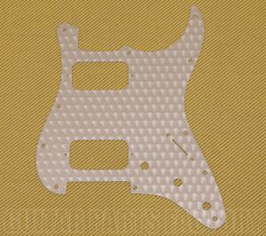 099-1382-000 Fender Engine Turned Clear Aluminum HH Stratocaster Pickguard