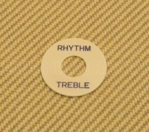 DR-003-02 Cream Rhythm/Treble Switch Ring Black Lettering