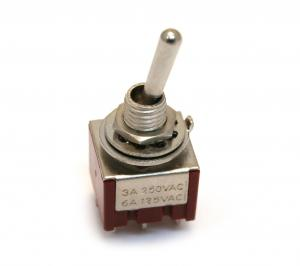 EP-4180-010 Chrome On-On-On DPDT Bat Style Mini Toggle Switch