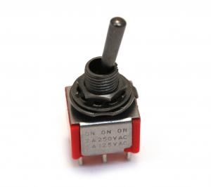 EP-4180-003 Black On-On-On DPDT Bat Style Mini Toggle Switch