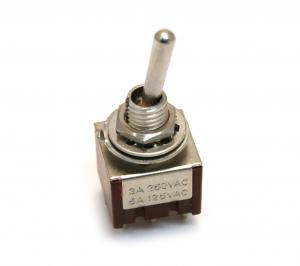 EP-4181-010 Chrome On-On DPDT Bat Style Mini Toggle Switch