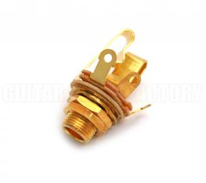 "WDE12LSG Switchcraft Long 1/4"" Gold Stereo Jack"
