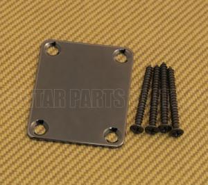 008-0191-000 Genuine Fender Cosmo Black Neck Plate