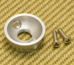 AP-5270-011 Round Silver Electrosocket Jack Plate Telecaster and Others Guitar and Basses