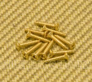 006-1010-049 (12) Genuine Gretsch Guitar Gold Bezel Ring Screws 0453G 0061010049