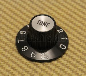 002-8216-000 Genuine Fender Silver/Black TONE Knob for USA CTS Pots