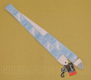 "099-0627-004 Genuine Fender 2"" Monogrammed Strap Daphne Blue Guitar/Bass 0990627004"